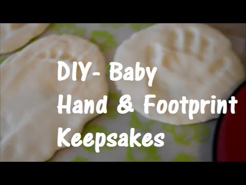 DIY Baby Print Keepsakes - 3 Ingredients & So Easy!!!...