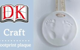 How to Make a Baby Footprint Plaque...
