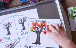 Fingerprint Leaves Counting Game with Seasonal Trees...