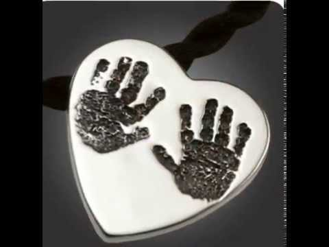 Baby Handprint and Footprint Keepsake Jewelry by Imprint On My He...