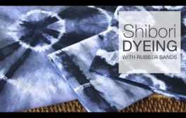 How to Dye Fabric - Shibori Tie-Dye with Rubber Bands...