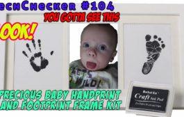 TechChecker #104 Bubzi PRECIOUS BABY HANDPRINT and Footprint Fram...