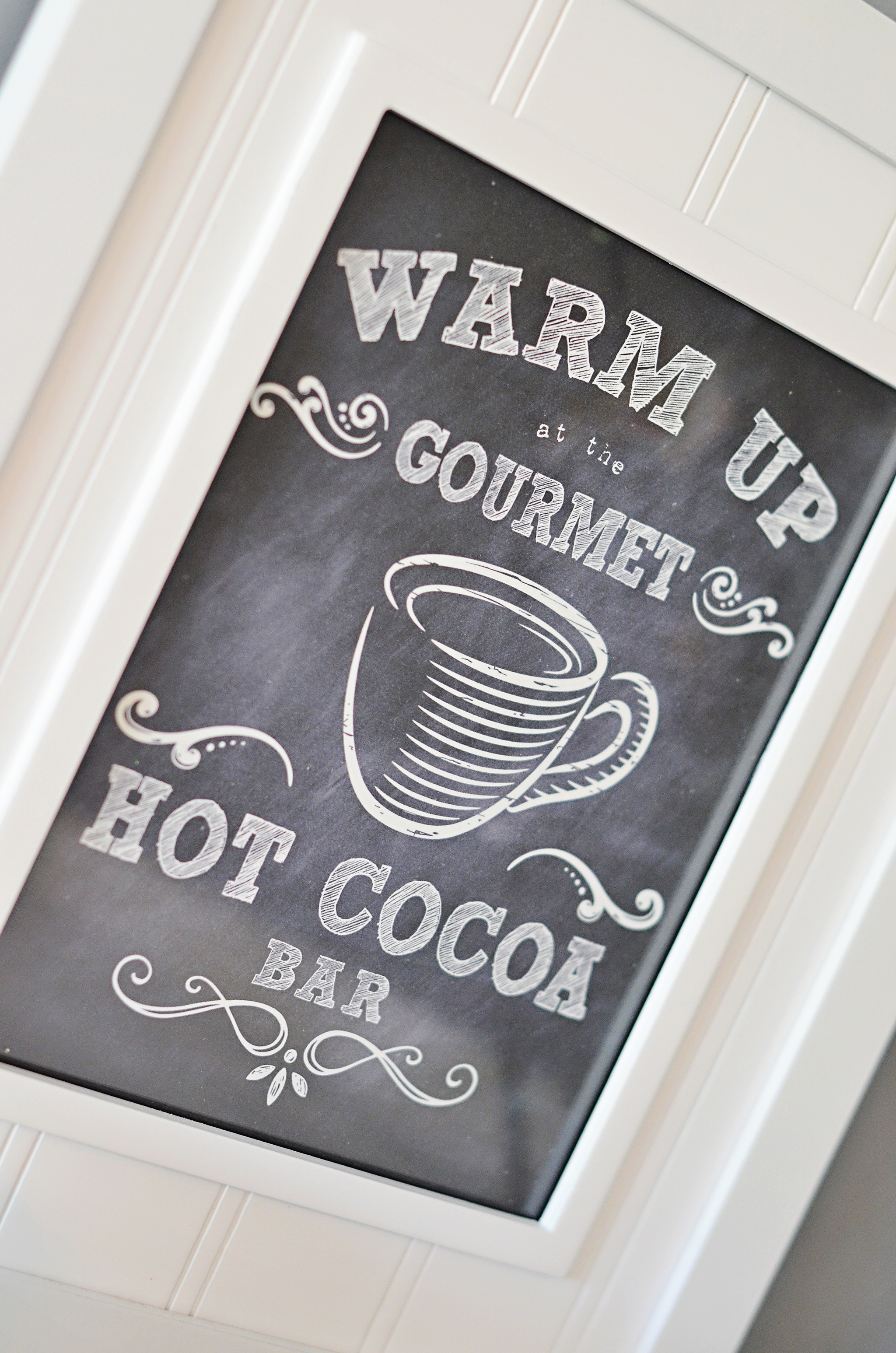 Printable PDF Hot Cocoa Bar Sign for Winter Wonderland Party