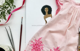 Beautiful Zuri and her pink baby dress....