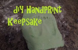 DIY Clay Footprint Keepsake!...