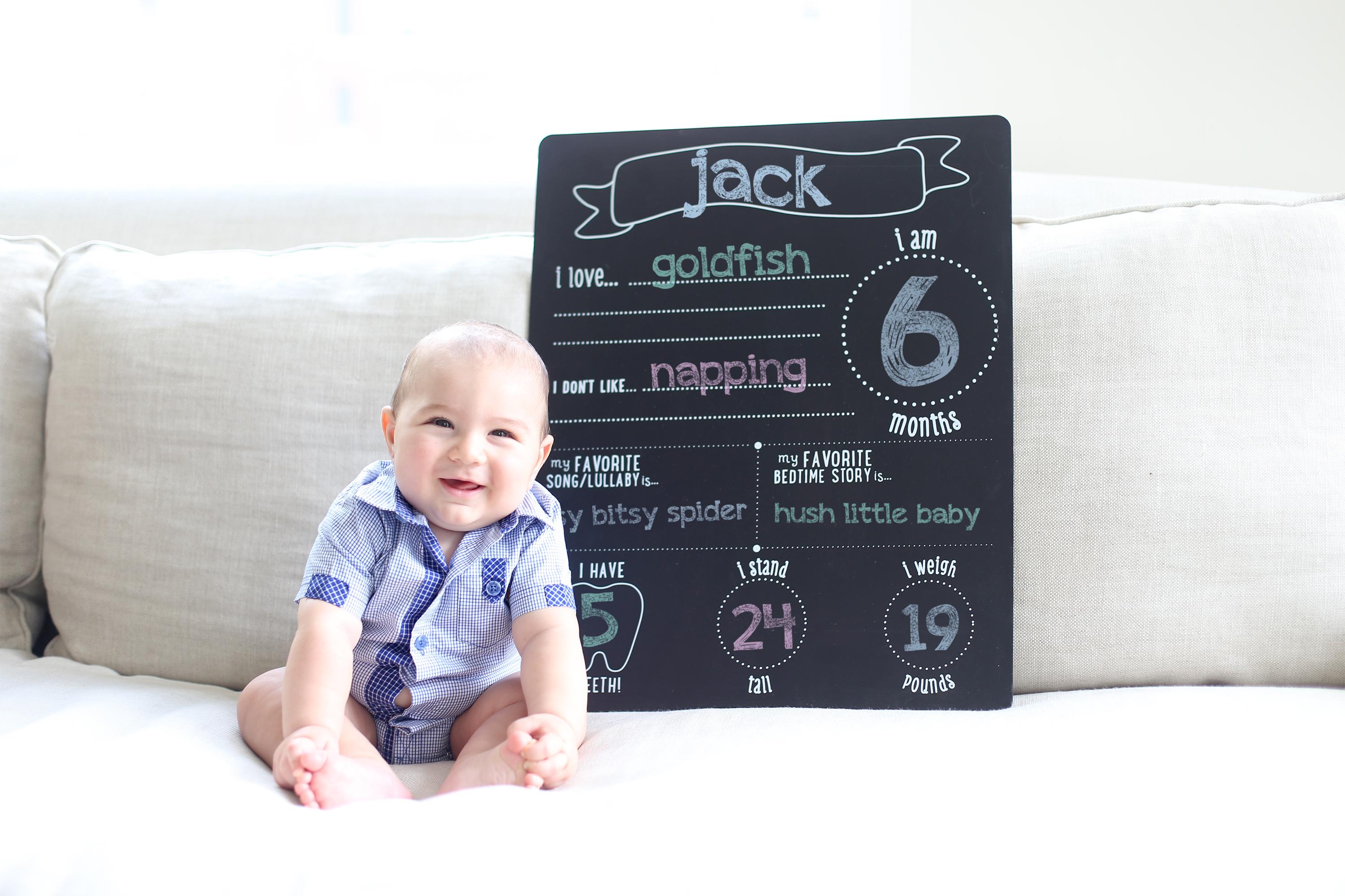 All About Baby Chalkboard from Pearhead