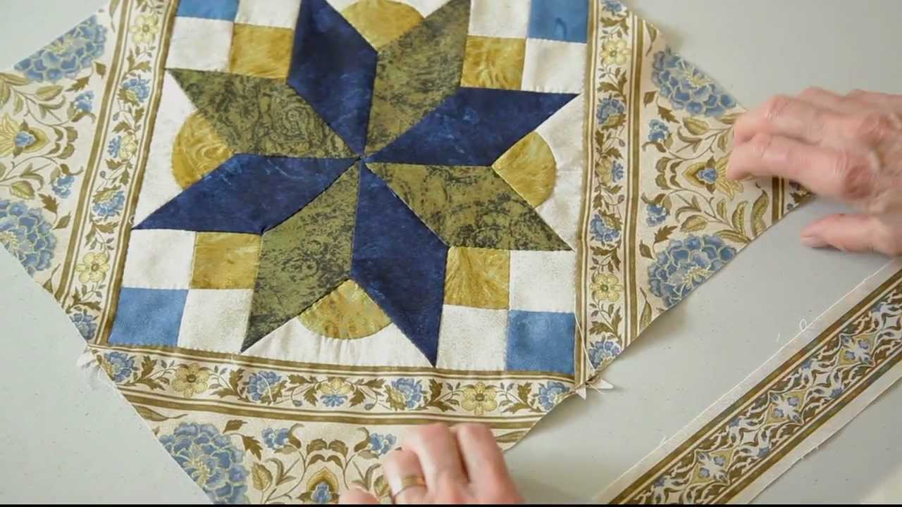 Framing a Quilt with Jinny Beyer Border Print Fabric...