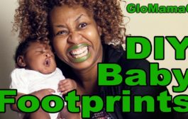 DIY Baby Footprints - with GloMamaG...