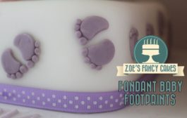 Fondant baby footprints How To Tutorial Zoes Fancy Cakes...