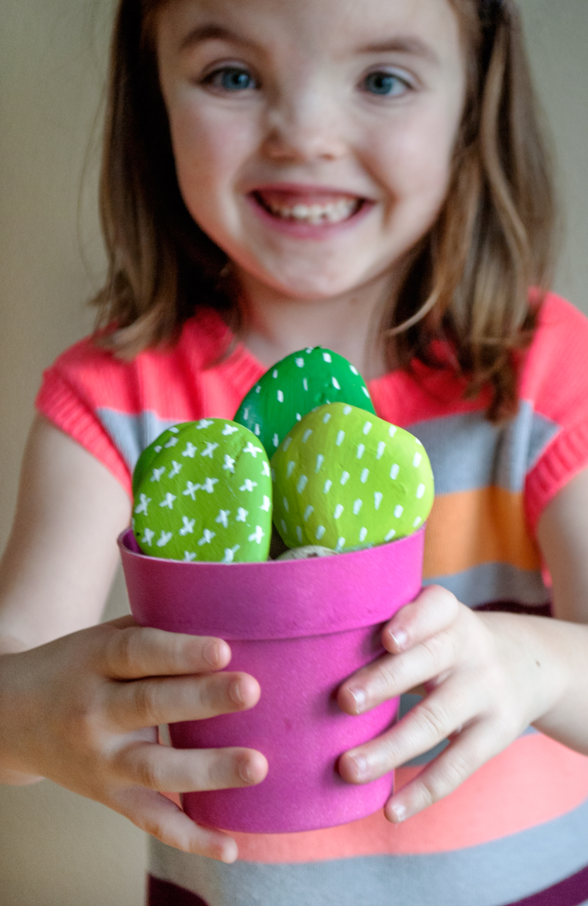 DIY Cactus Rocks Make Your Own Cactus Rock Garden Craft for Kids