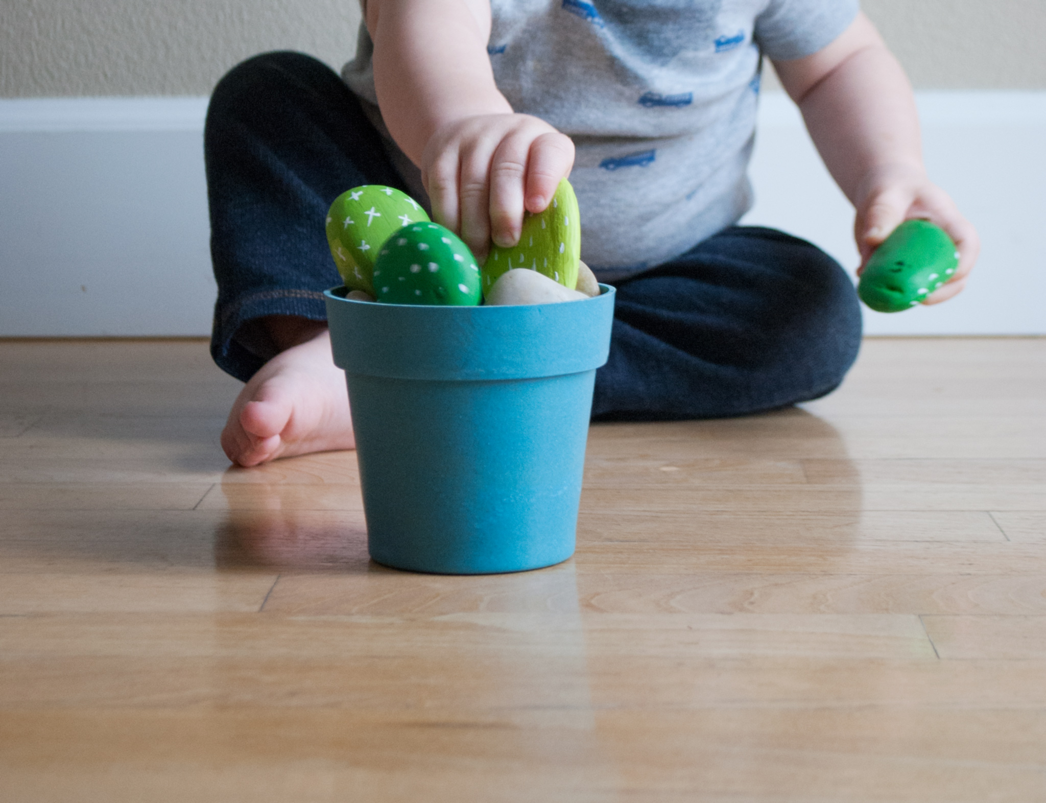Toddler-Friendly Cactus Rock Garden DIY Cactus Rocks