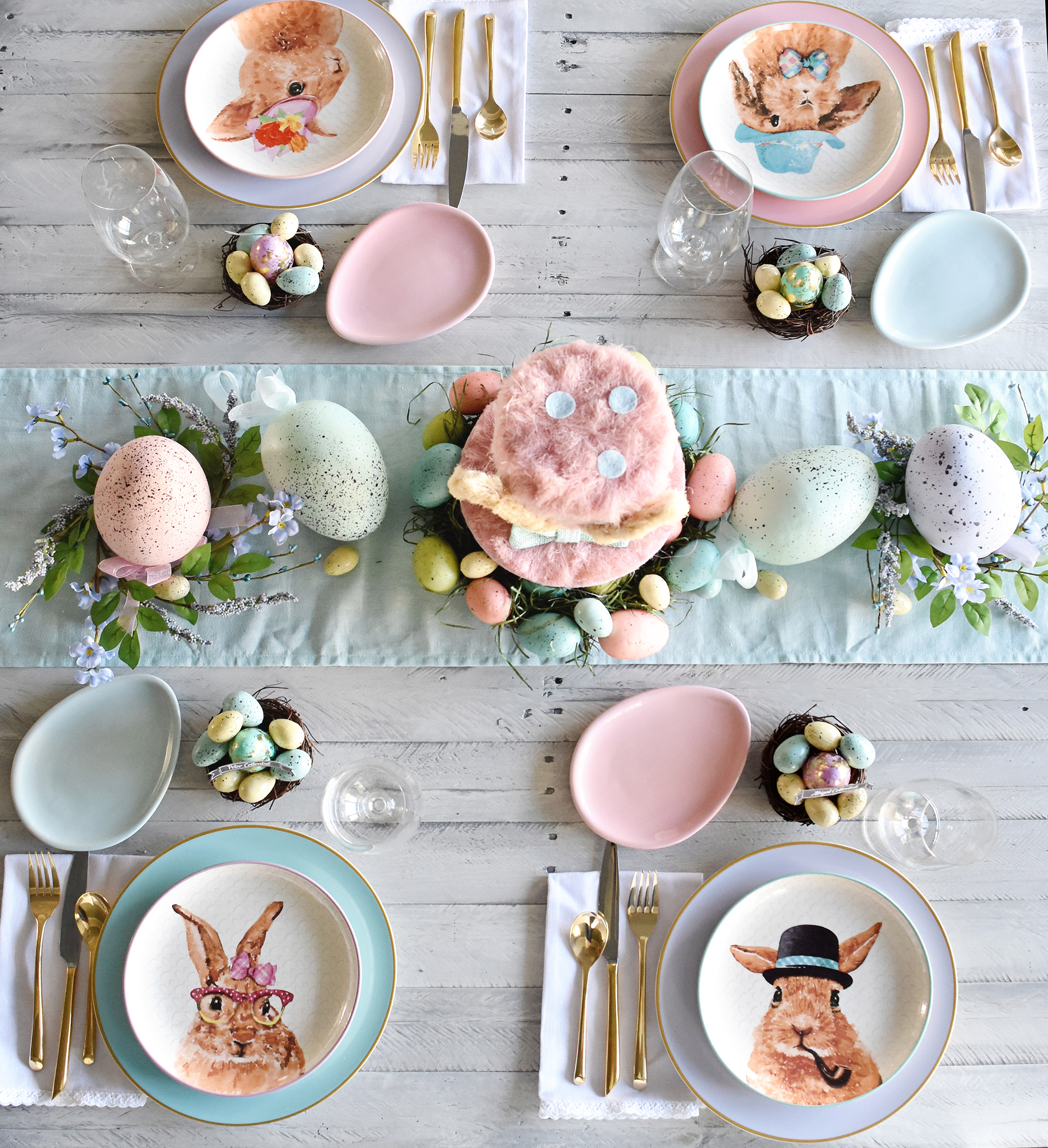 Pastel Easter Brunch Tablescape Modern Easter Place Settings