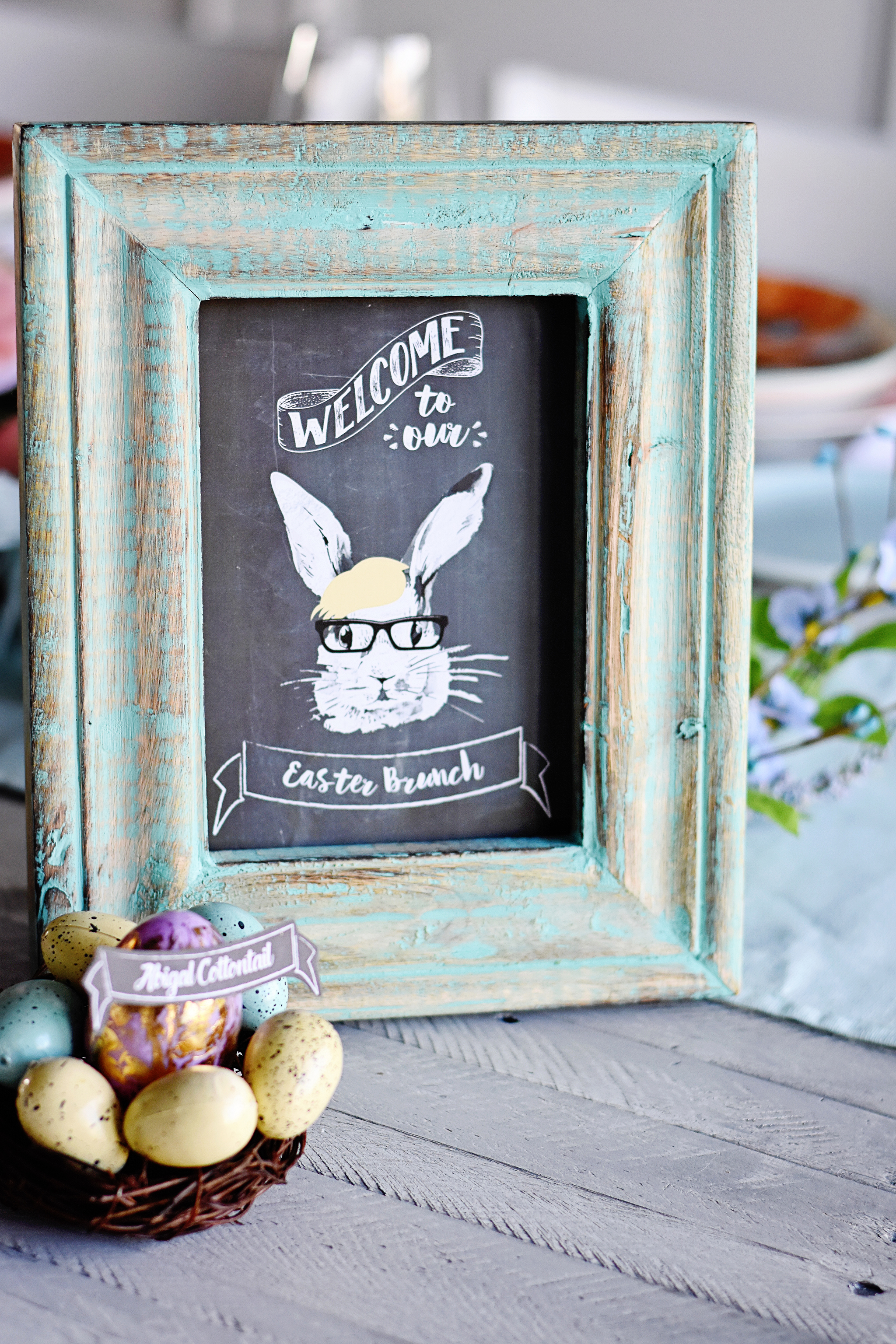 Welcome to Our Easter Brunch Printable Chalkboard Sign