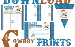 Free Cowboy Baby Shower Prints - Invitations, Games & Decorations...
