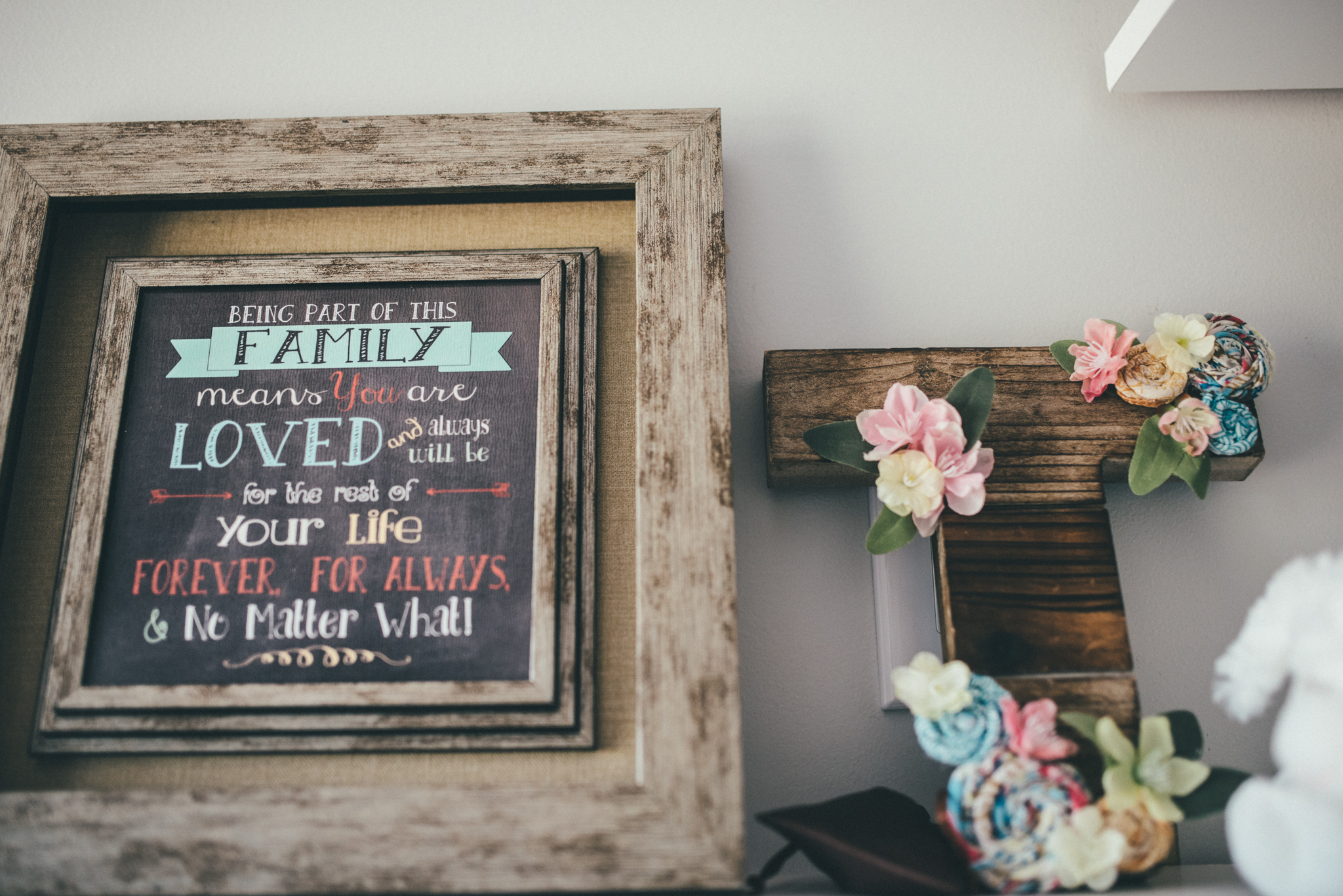 Nursery Art and Floral Letter