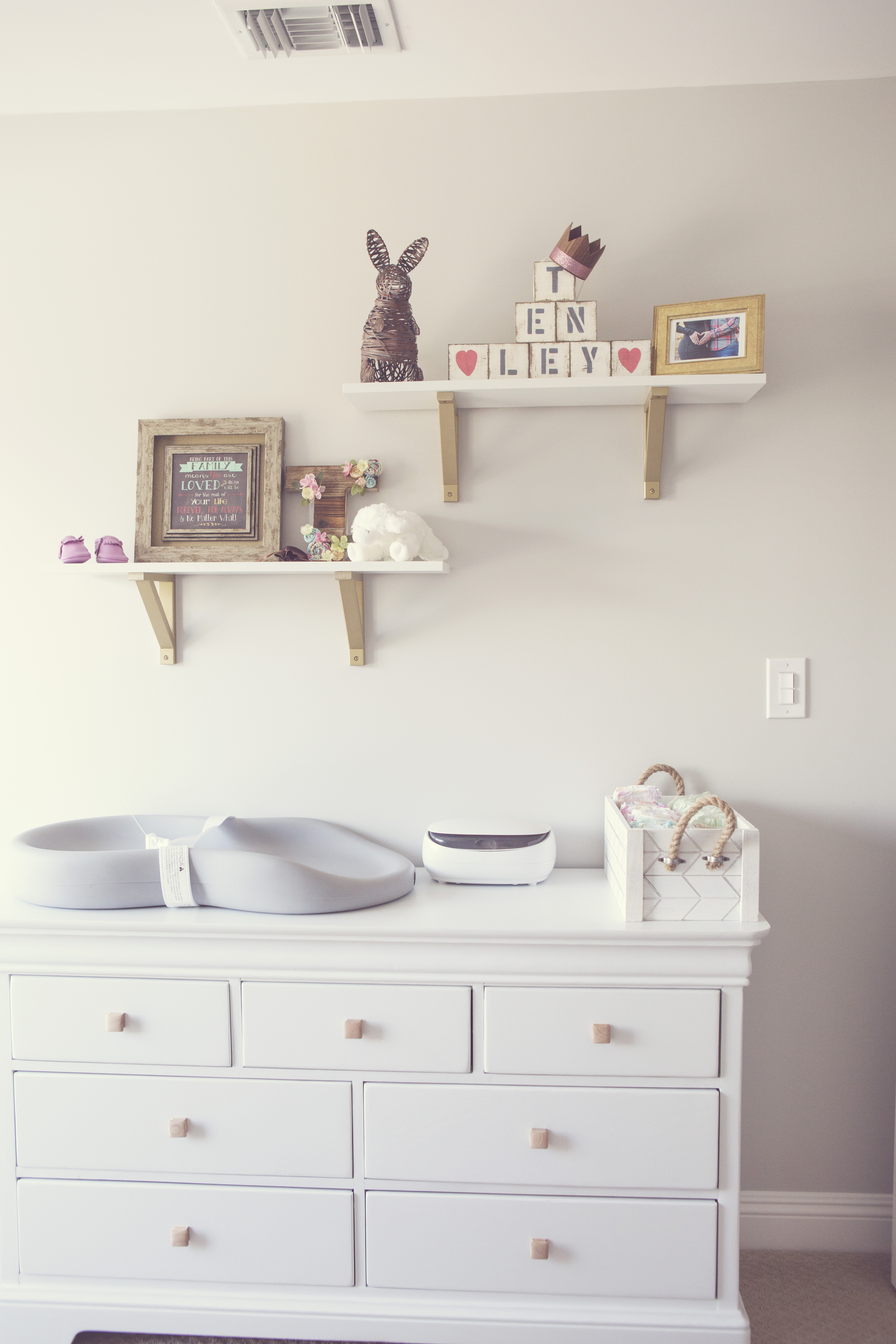 Boho Nursery Changing Table with Foam Changer