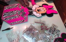Minnie Mouse Centerpieces in Hotpink and Zebra Prints...