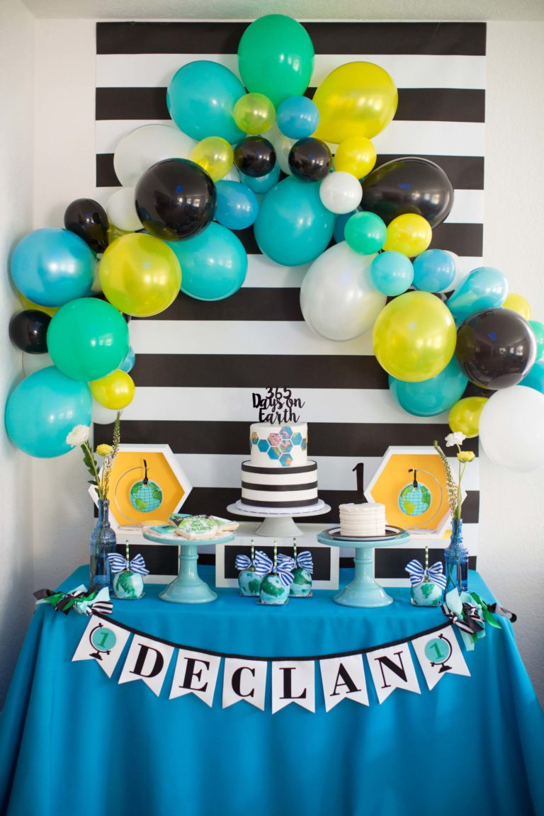 365 Days on Earth First Birthday Party - Project Nursery