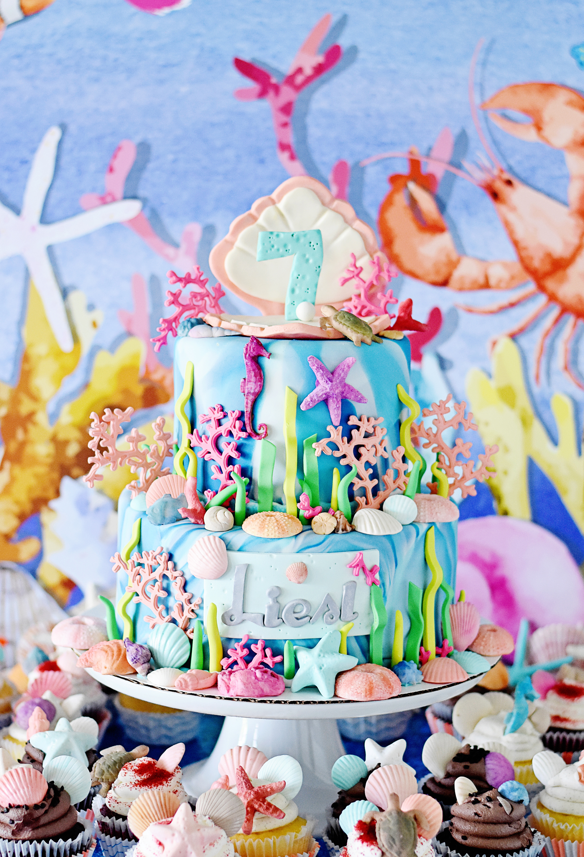 Under the Sea Birthday Cake - Project Nursery