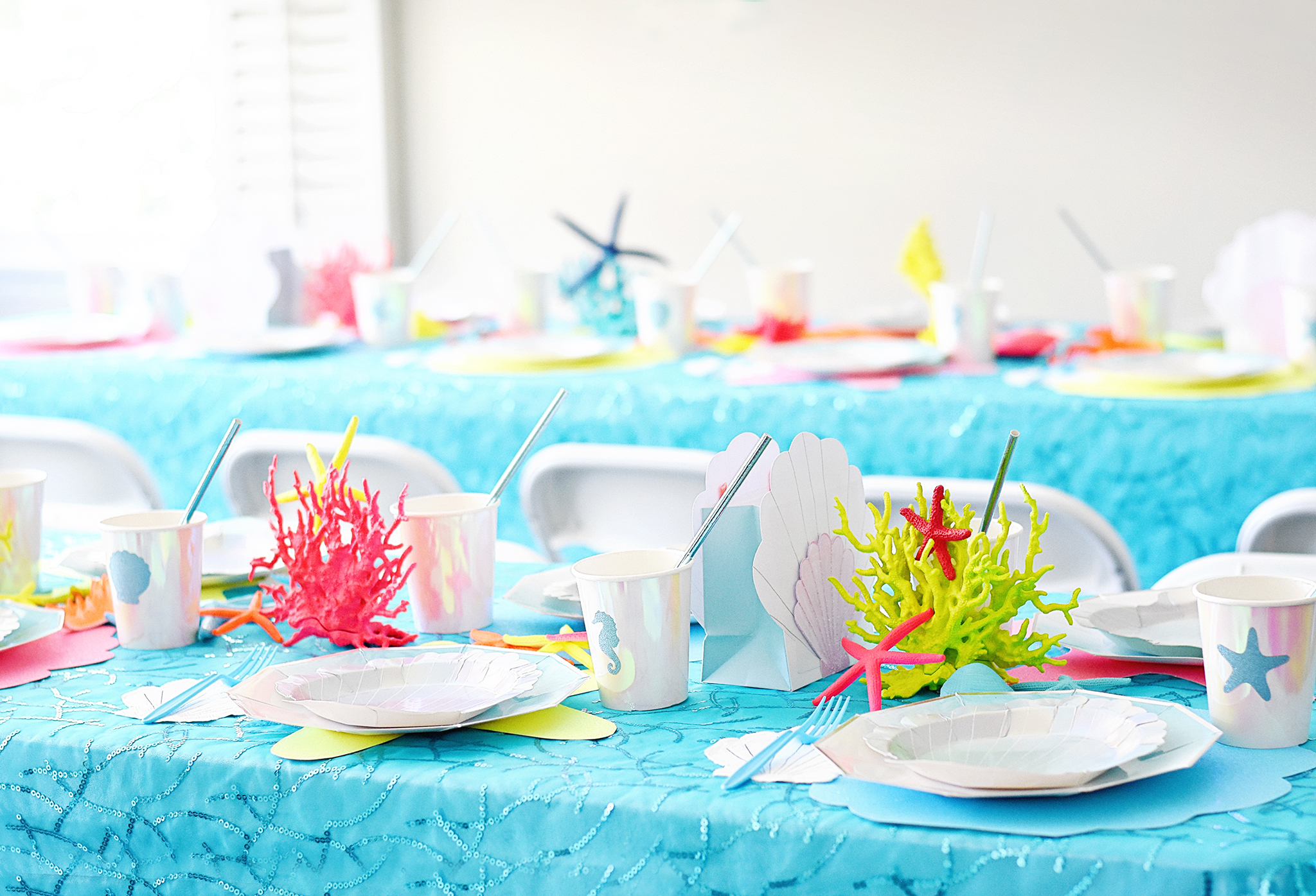 Under the Sea Birthday Party Table