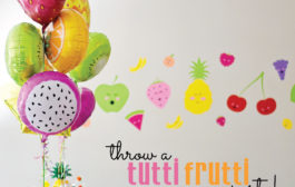 Cute and Colorful Tutti Frutti Birthday Party...
