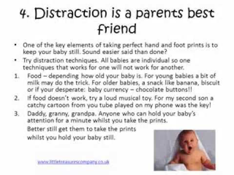 Tips for Perfect Baby Hand and Foot Prints...