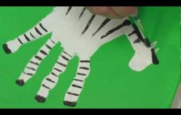 Art Lesson: How to Make Hand Print Safari Animals Using Acrylic P...