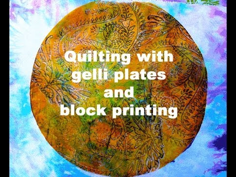Print your own fabric - with gelli plates and block printing...