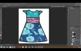 Use photoshop to put patterns in a line drawing (clothing design)...