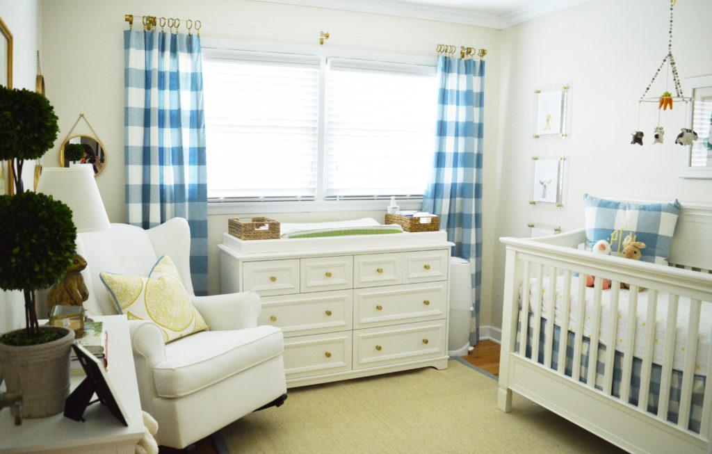 Blue and White Buffalo Plaid Boys Nursery - Project Nursery