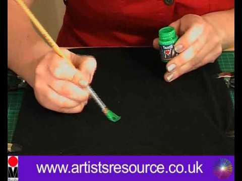 How to Paint onto your T- shirt - Fabric Painting project - Art a...