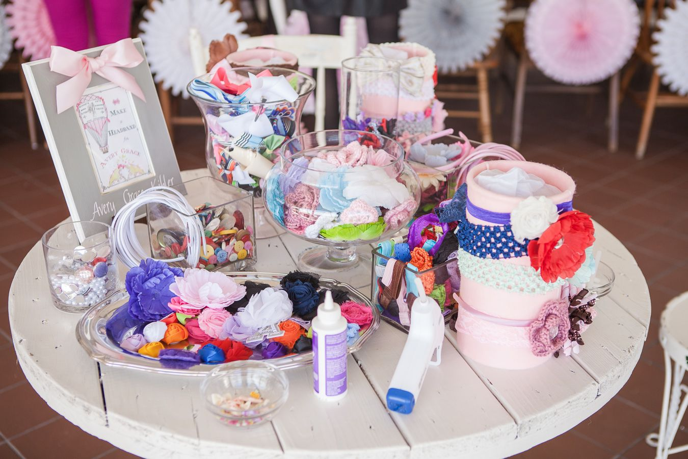 Baby Shower Headband Making Station - Project Nursery