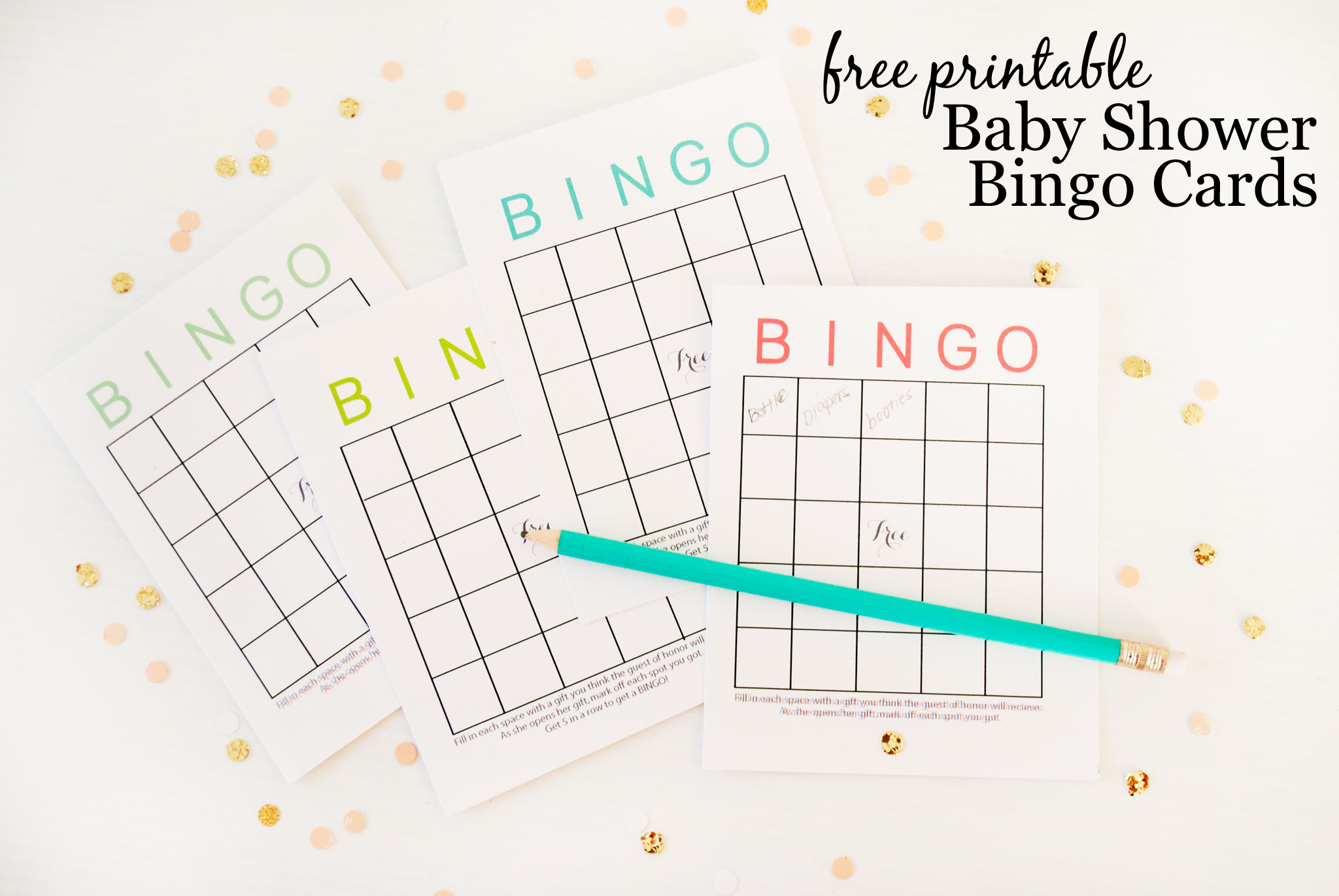Free Printable Baby Shower Bingo Cards - Project Nursery