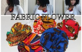 Fabric Flower - African Print Twist...