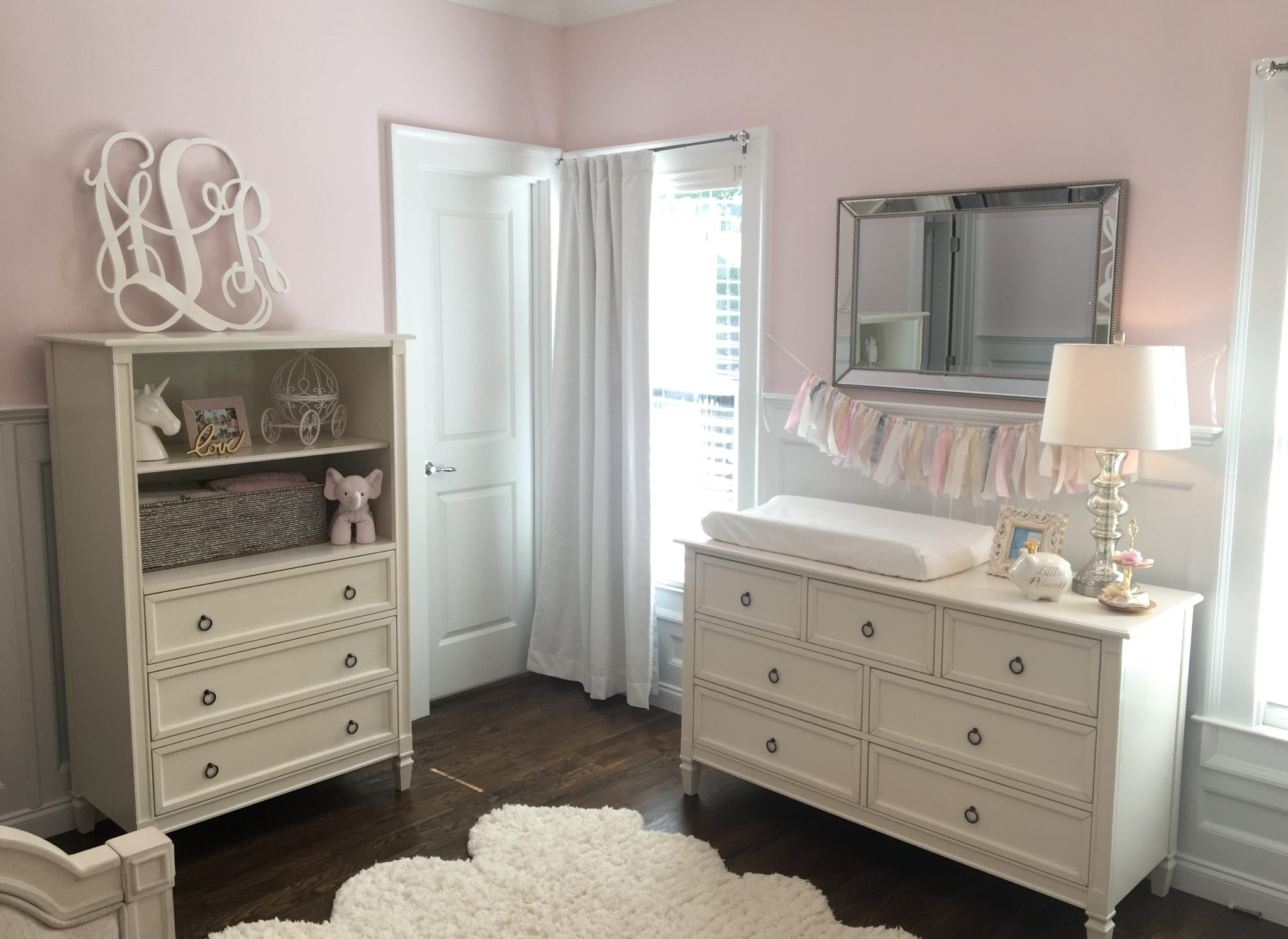 Pink and White Sweet Dreams Nursery - Project Nursery