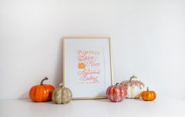 Pumpkin Spice and Everything Nice Baby Free Art Print...