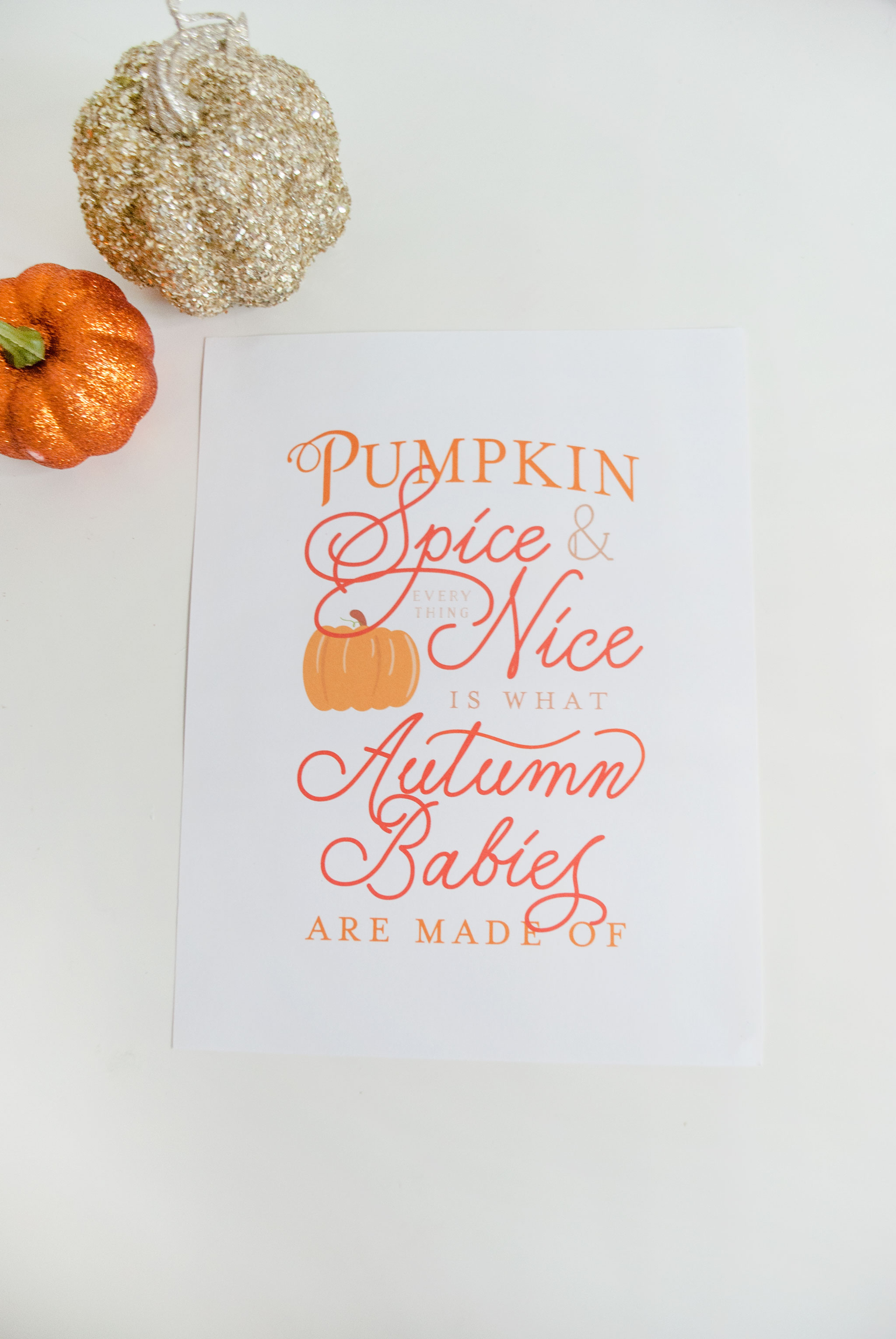 Pumpkin Spice and Everything Nice Baby Free Art Print