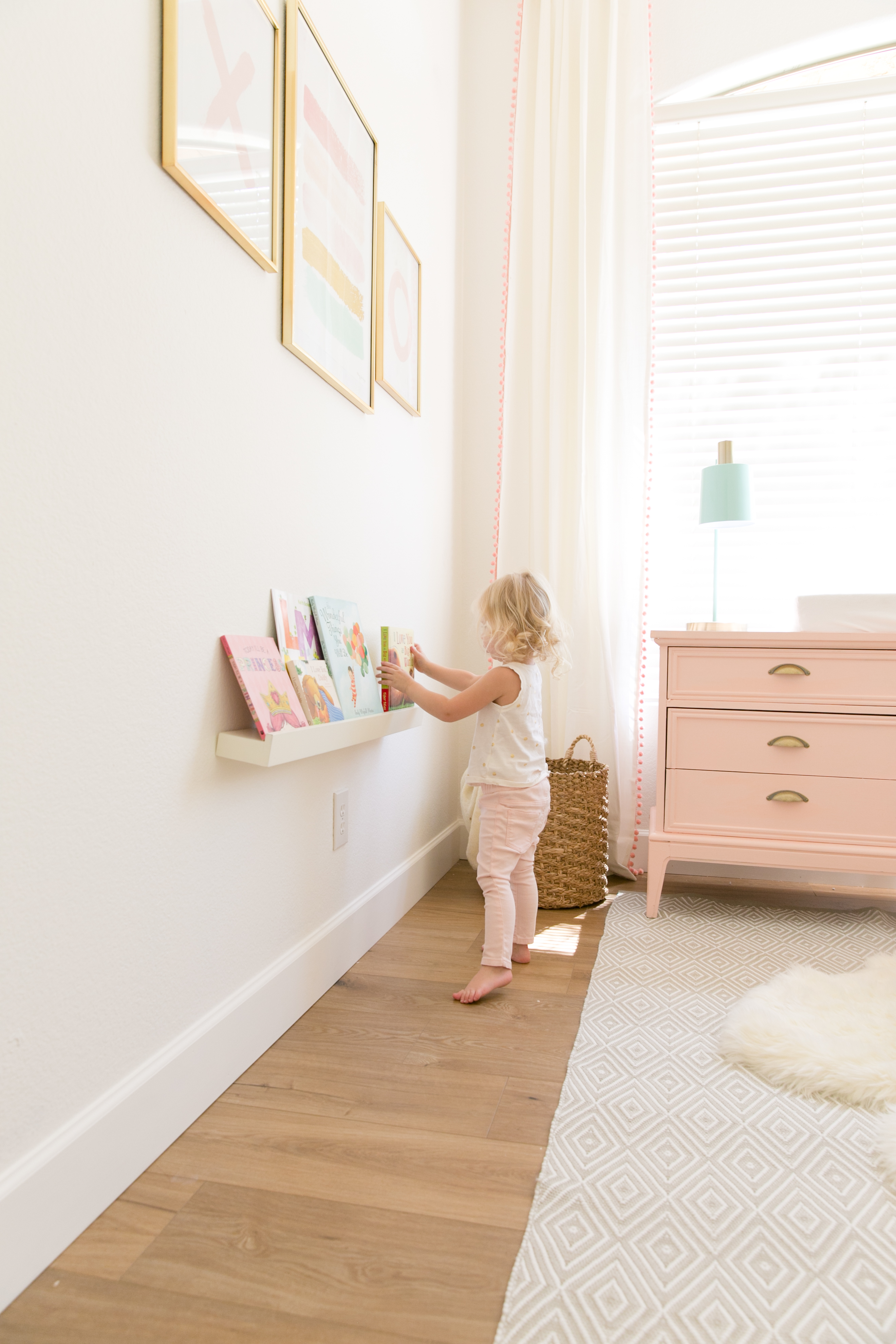 Wall Book Shelf in Nursery