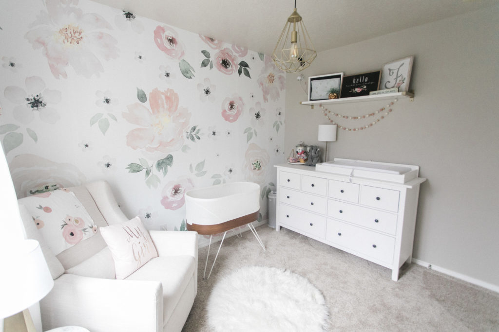 Light and Airy Floral Nursery