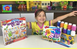 CUTE FATHER'S DAY SURPRISE GIFT HAND PRINTS + Crayola Paint, Disn...