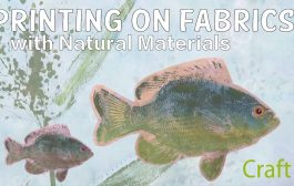 Printing on Fabric with Natural Materials with Jane Davila: UV Re...