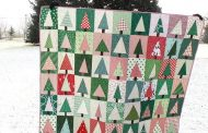 Modern Christmas Tree Quilt Block Tutorial...
