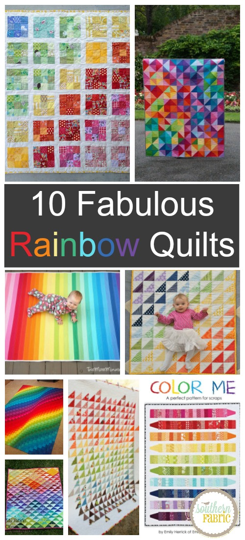 10 Fabulous Rainbow Quilts...