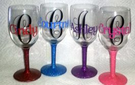personalized wine glasses...