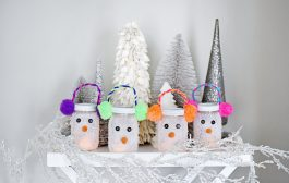 Adorable Snowman Luminaries—The Perfect Winter Craft...