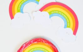 Printable Rainbow Valentine's Day Cards...