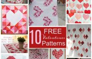 10 Fabulously FREE Valentines Quilts...