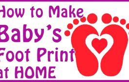 DIY baby footprint ideas - how to make baby footprints at home...