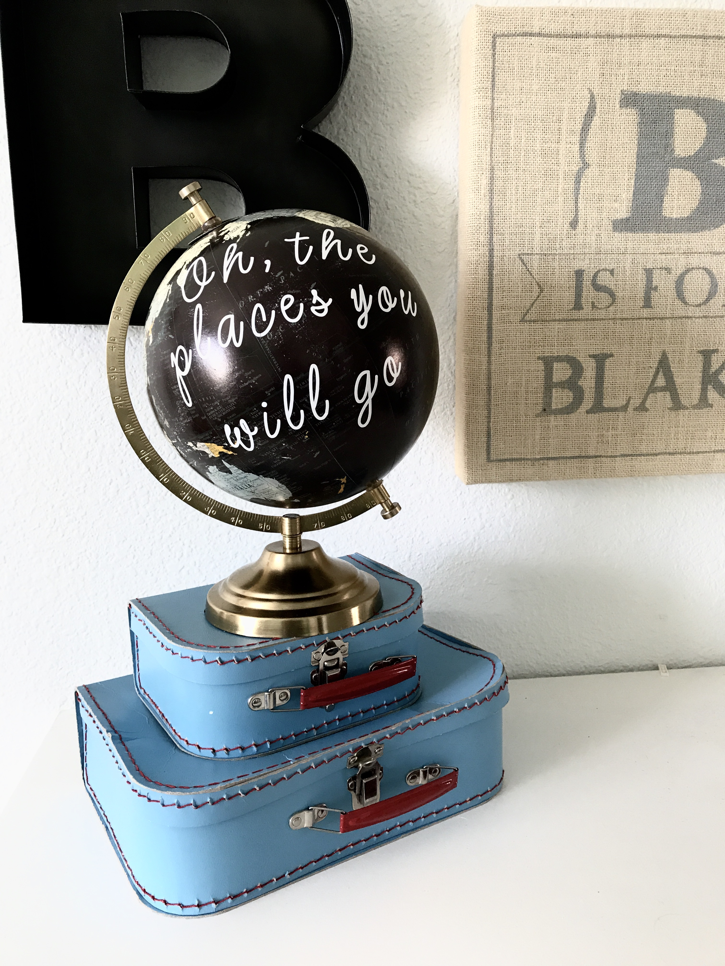 Oh, The Places You Will Go DIY Quote Globe...
