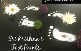 How to make Lord Sri Krishna's Foot Prints for Janmashtami : Very...